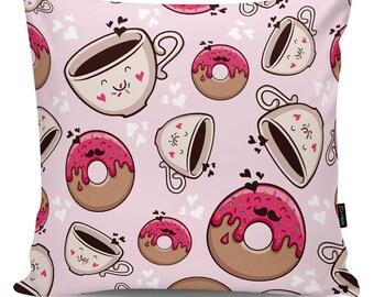 Decorative pillow Good Morning pink