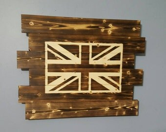 Union Jack - British Flag - Union Flag - Wooden Rustic Wall Art - Flag Decor