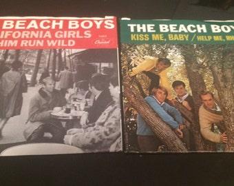 Two vintage Beach boys 45s
