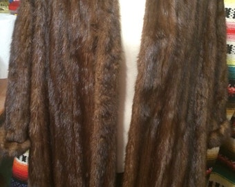 Hollywood glam ladies full length mink coat