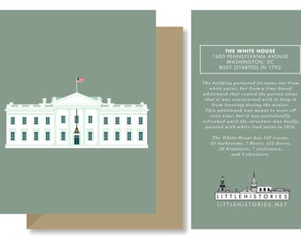Washington D.C. Greeting Card, The White House Government Building, Architecture