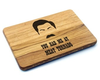 Ron Swanson Cutting Board Parks and Recreation Gift. Birthday Gift, Gift for Dad, Gift for Him, Gift for Her, Father's Day Gift