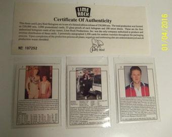 Larry Bird hologram card set, Limited Edition release, 1992