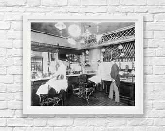New York City - Barbershop - Vintage Barbershop Photograph - New York City Photograph - Vintage New York - Steampunk Photograph - NYC