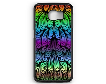 Abstract Colorized Paisley for Samsung Galaxy S3 / S4 / S5 / S6 / S6 Edge / S6 Edge Plus / S7 / S7 Edge Samsung Galaxy Phone Cover - Case