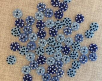 Mini Buttons Blue