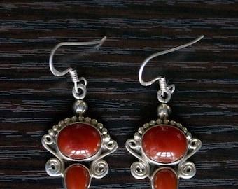 ON SALE Charming AGATE Silver Earrings