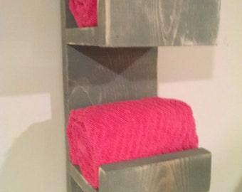 Rustic Towel Rack, Bathroom Decor, Hand Towel Rack, Rustic Home Decor, Rustic Bathroom, Towel Hook, Towel Rack