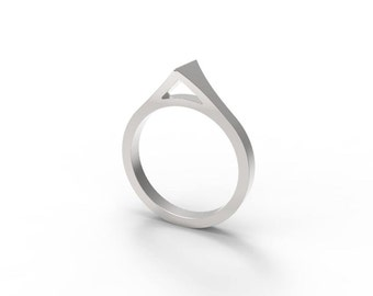 Valhalla - 3D Printed Sterling Silver Ring