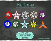 Star Frames in .SVG .EPS .DXF & .Studio3 formats Craft Cut Die Cutters Digital Vector Files Instant Download