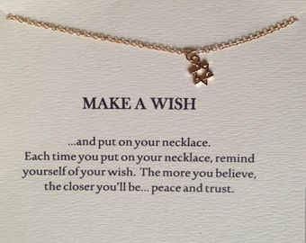 Make a Wish Pendant necklace