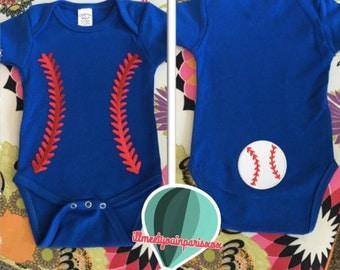 Baseball gender neutral baby onesie