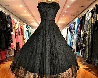 Chantilly Lace Vintage Couture Gown