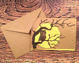Night owl blank greeting card