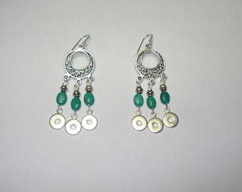 Genuine Turquoise Beaded Dangle Earrings