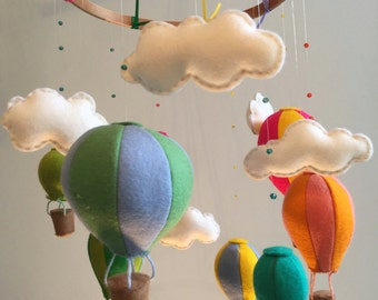 Balloon and Cloud Nursery Mobile
