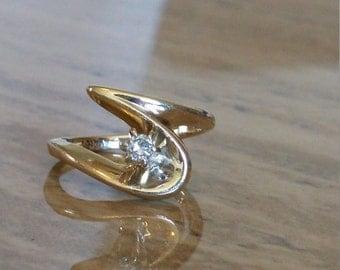 SALE***Swirl Diamond pinky ring Size 3
