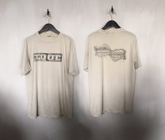 Tool shirt 90s vintage t shirt 1994 tool band t shirts 90s for Making band t shirts