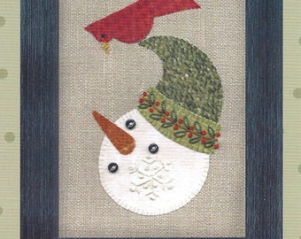 Folk Art Frosty Friends Wool Felt Applique Pattern by All Through the Night