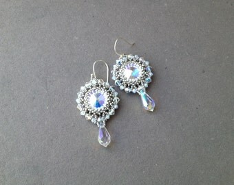 sparkling swarovski earrings