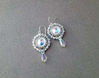 sparkling swarovski earrings