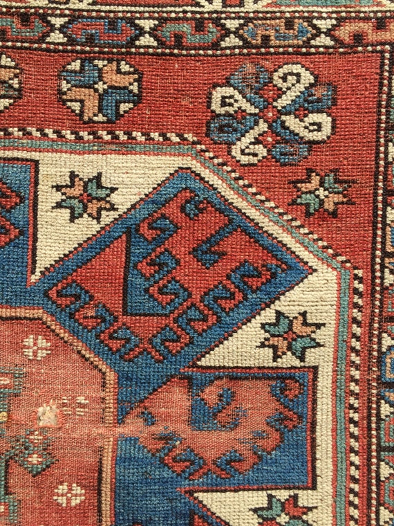 antique anatolian bergama turkish rug fragment 19th century 87969
