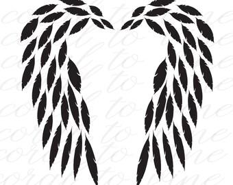 feather svg, angel wings SVG, feathers set SVG, feather wings SVG, angel svg, bird svg, feathered wing svg, memorial svg, baby svg, svg