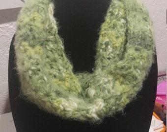Lime Green Single Wrap Infinity Scarf