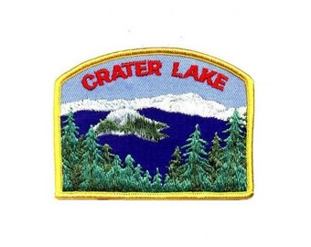 Crater Lake Patch - Southern Oregon - Mountains, Trees, Water