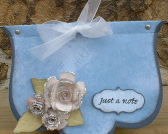 Blue Just a Note Roses Note Pad