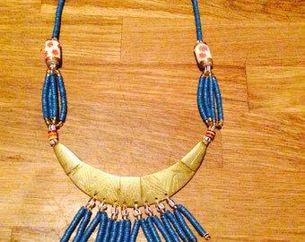 "Handcrafted necklace ""Half moon"" for her"