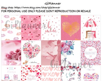 PRINTABLES #Pink and white Pattern Stickers for Erin Condren Square and kikki.k Instant download