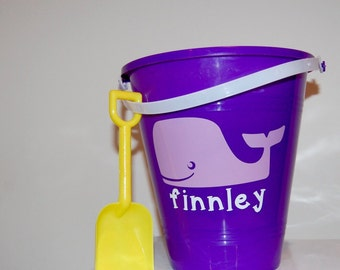 Personalized Beach Bucket With Shovel