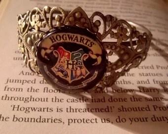 Harry Potter Hogwarts cuff bracelet