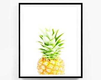 Pineapple Print, Summer Print, Tropical Print, Peekaboo Print, Plant Print, Pineapple Fruit Print,
