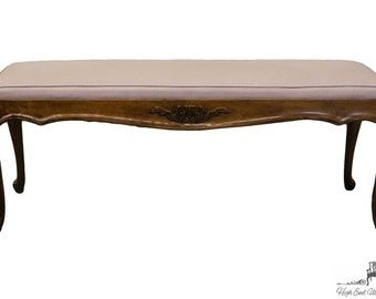 "WHITE of MEBANE Lorraine Louis XV French Provincial 52"" Bench"