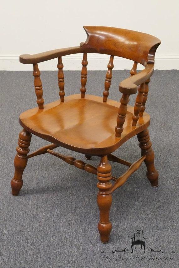 Chaise de taverne l jg stickley solide cerise du capitaine for Chaise du capitaine