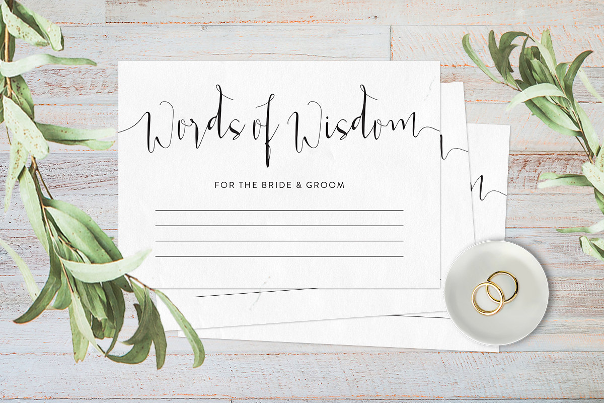 Words of wisdom cards, Wedding advice cards, Advice for the bride and groom, Advice cards wedding reception decor, Printable advice cards