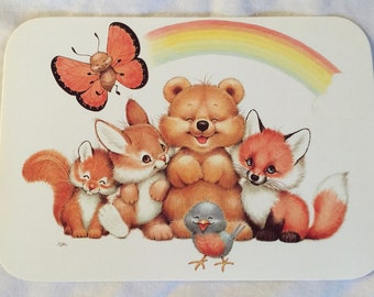 Set of 10 vintage woodland creature postcards. Seriously adorable.