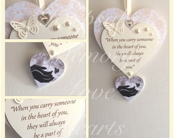 Infant loss miscarriage wooden keepsake heart