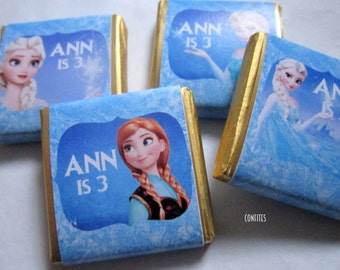 Personalised Chocolates Frozen party favour birthday favour party favour Candy Bar Kids children