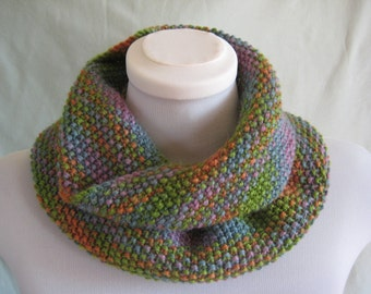 Infinity scarf/cowl in muted shades