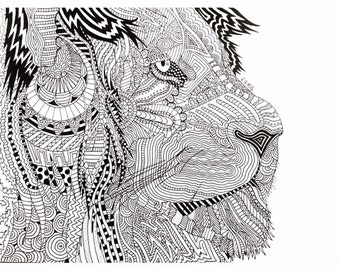 The Doodle Series: The Lion