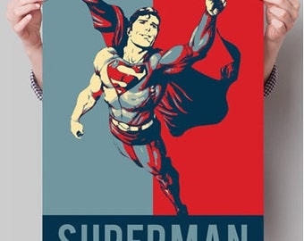 Superman Iconic wall art, new style available A4 & A3