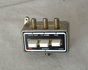 Vintage Coaxial Splitter, Old Video Game System Connector