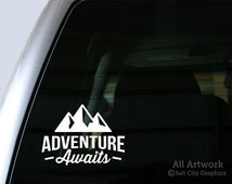 Adventure Awaits Decal - Vinyl Sticker, Vinyl Decal - Car Decal, Laptop Sticker, Window or Bumper Sticker