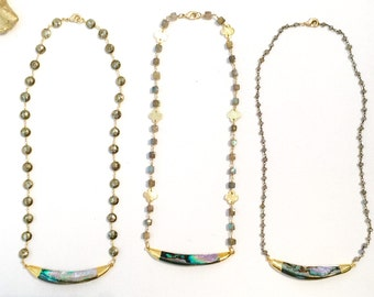 Beautiful One-of-a-Kind Abalone Shell Necklaces!!