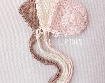 UK Seller, 6-9 months bonnet,Newborn Bonnet, Newborn Boy, Newborn Girl, Photography Props, Handmade Bonnet.