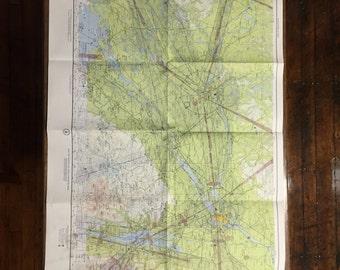 Vintage Aeronautical Map -- Burlington Vermont