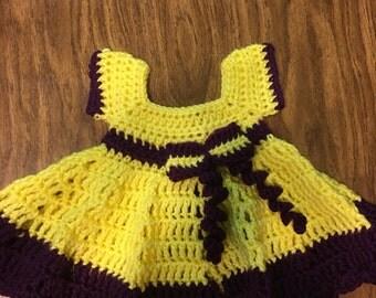 Crocheted Baby girl sundress